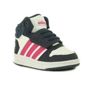Adidas Neo Hoops Mid 2.0 Lány Száras Cipő #szürke-rózsaszín 30826183 Magasszárú gyerekcipő, bakancs