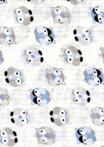 Textil Pelenka 1db - Bagoly #kék-szürke 30826425 Textil pelenka