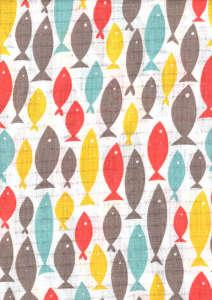 Textil pelenka 1db - Halacska #piros-sárga 30826431 Textil pelenka