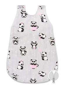 Hálózsák 0-6 hó szürke/rózsaszín panda 30830955 Hálózsák