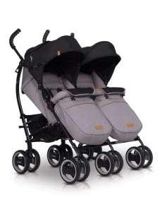 EasyGo Duo Comfort iker Babakocsi #szürke 30831022 Babakocsi
