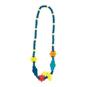 Fa gyöngy nyaklánc, kék hold 30831434 Nyaklánc