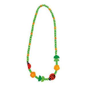 Fa gyöngy nyaklánc, zöld katica 30831441 Nyaklánc