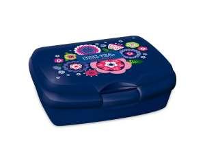 Uzsonnás doboz - Virág #kék 31025005 Étel-Ital tároló