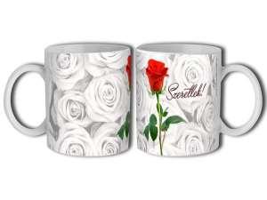Szerelmes porcelán Bögre - Rózsa 30831746 Bögre