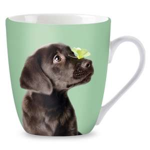 Porcelán Bögre - Labrador kutya #zöld 30831772 Bögre