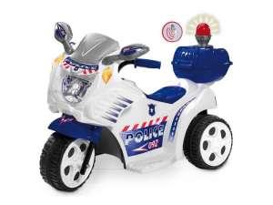 Elektromos háromkerekű Rendőrmotor #fehér-kék 31027680 Elektromos jármű