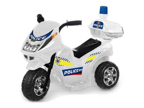 Elektromos háromkerekű Rendőrmotor #fehér 31036973