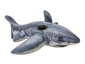 Óriás fehér cápa lovagló - 173 x 107 cm 31240187 Ráülős strandjáték