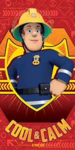 Pamut Törölköző - Sam a tűzoltó #piros