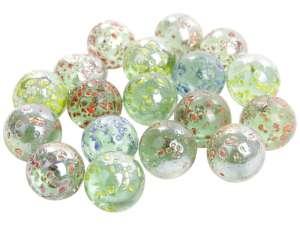 Csillámos üveggolyó 50 darabos készlet - 16 mm 31044233 Üveggolyó