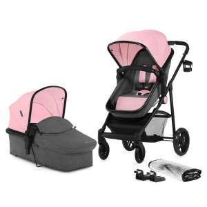 Kinderkraft Juli 2in1 Babakocsi #rózsaszín-szürke