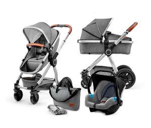 Kinderkraft Veo 3in1 multifunkciós Babakocsi #szürke 30836581 Babakocsi