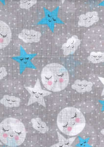 Textil pelenka 1db - Csillag #szürke 30840205 Textil pelenka