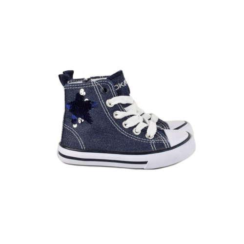 Okaidi sötétkék, flitteres lány cipő – 27