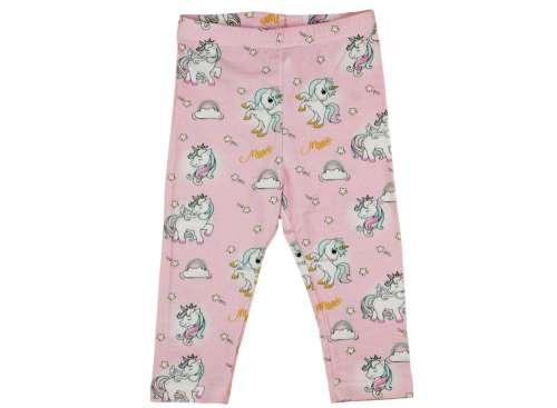 Lányka hosszú Leggings - Unikornis #rózsaszín