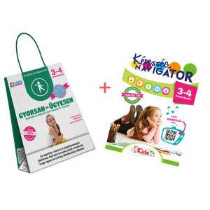 Képesség navigátor + Gyorsan és ügyesen termékcsomag 3-4 éveseknek 30859790 Fejlesztő játék ovisoknak