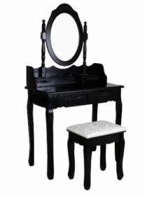Kozmetikai fésülködő és sminkasztal székkel #fekete 30859816 Íróasztal, fésülködő asztal