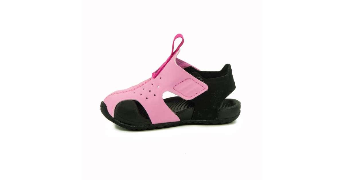 Nike Sunray Protect 2 PS Gyerek Lány Szandál #fekete rózsaszín 28 | Pepita.hu