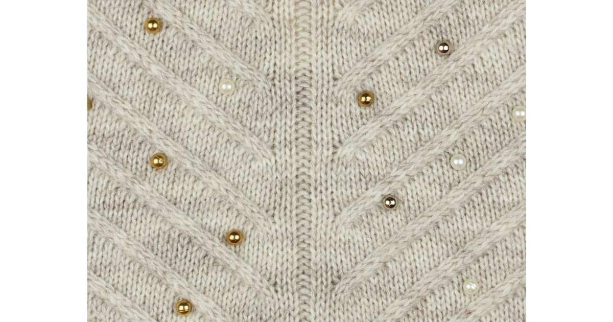 Lányka kötött pulóver gyöngyökkel (TUR)