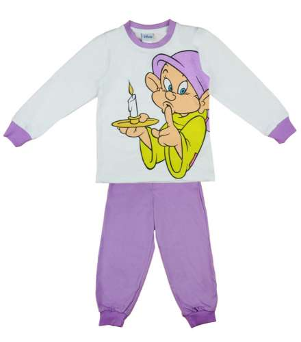 Disney kislány Pizsama - Hófehérke és a hét törpe #lila-fehér