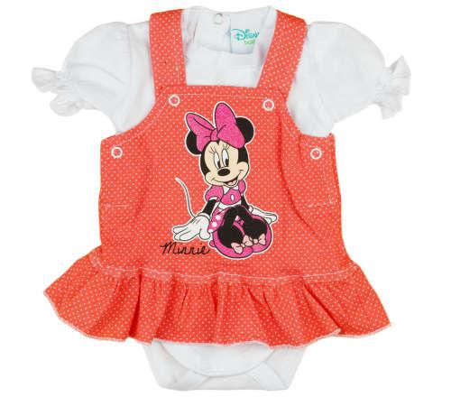 Disney Minnie 2 részes, kantáros szoknyás baba szett