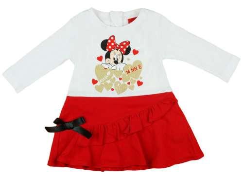 Disney hosszú ujjú Kislány ruha - Minnie Mouse #piros
