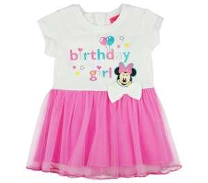 Disney szülinapos rövid ujjú Kislány ruha - Minnie Mouse #fehér