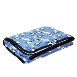 Kétrétegű Takaró 140x180cm - Pingvin #kék
