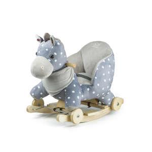 Kinderkraft 2in1 Hintázó állatka - Csacsi #szürke-kék 30879425 Hintaló, hintázó állatka