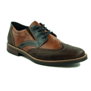 Rieker férfi Alkalmi cipő #fekete-barna 31373514 Férfi alkalmi cipő