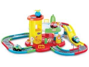 Parkolóház autópályával #sárga-piros 31044287 Autópálya, parkolóház