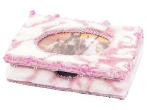 Lovas/hercegnős ékszerdoboz - rózsaszín