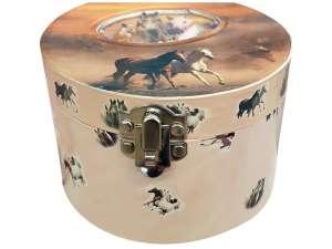 Lovas félkör alakú zenélő doboz