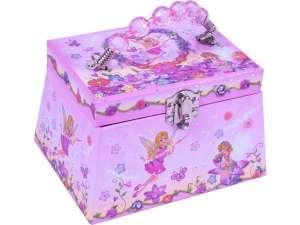 Tündéres ékszertartó doboz - rózsaszín 31027479 Zenélő doboz