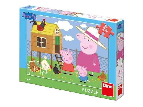 Gyerek Puzzle 24db - Peppa malac