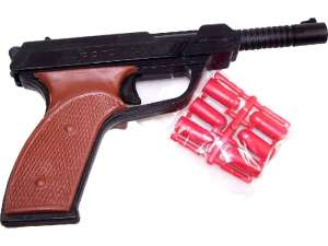 Kommandós játék pisztoly gumilövedékkel 31033720 Játékpuska, töltény