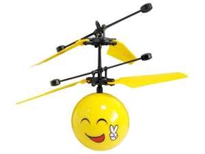 Heliball Helikopter labda 15cm - Smiley #sárga 31029820 Helikopter, repülő