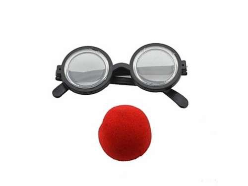 Bohóc szemüveg és orr #fekete-piros