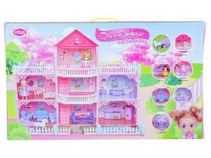 Emeletes Babaház #rózsaszín 31024174 Babaház, vár, farm