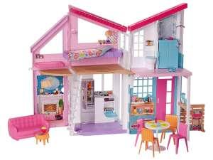 Barbie tengerparti Babaház #rózsaszín 31043773 Babaház, vár, farm