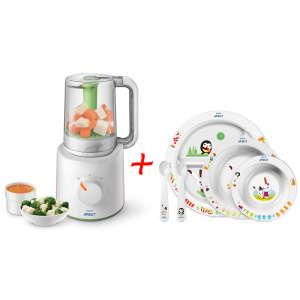 Avent kombinált pároló és turmixgép MOST Avent Étkezési szettel 30981831 Konyhai eszköz