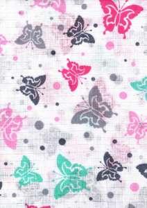 Textil pelenka 1db - Pillangó #fehér-rózsaszín 30982178 Textil pelenka