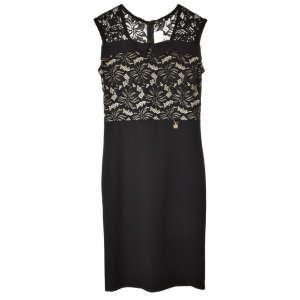 Mya fekete, csipkés, ujjatlan női ruha – 38 31070892 Női ruha