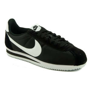 Nike Classic Cortez Nylon Utcai Cipő Férfi Sötét Fekete
