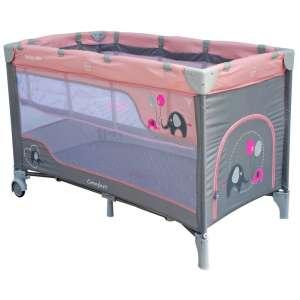 Baby Mix Comfort Plus Utazóágy - Elefánt #szürke-rózsaszín