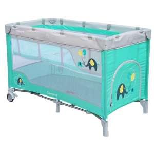 Baby Mix Comfort Plus Utazóágy - Elefánt #menta 30987517 Utazóágy