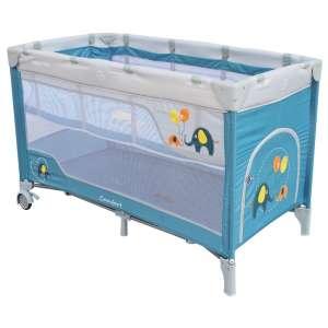 Baby Mix Comfort Plus Utazóágy - Elefánt #acélkék 30987528 Utazóágy