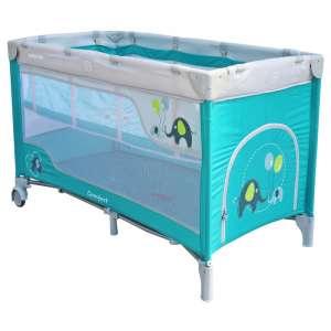 Baby Mix Comfort Plus Utazóágy - Elefánt #világoskék 30987531 Utazóágy