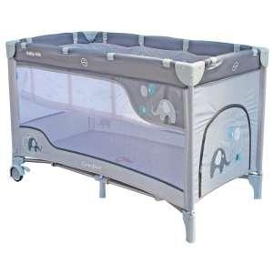 Baby Mix Comfort Plus Utazóágy - Elefánt #világosszürke 30987532 Utazóágy